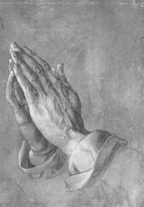 Dürer. Mains en prière. 1508.