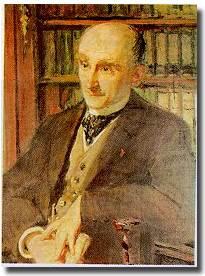 Henri Bergson, 1859.1941. Portrait par J E Blanche.1891.
