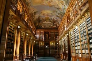 Salle de la bibliothèque du Strahov. Prague.