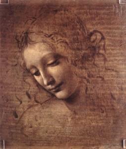 Léonard de Vinci. La Scapigliata ou tête de jeune fille échevelée. Pinacothèque de Parme.