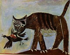 Picasso. Chat saisissant un oiseau. 1939. Collection particulière.
