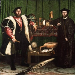 Holbein le Jeune. Les Ambassadeurs. 1533. National Gallery. Londres.