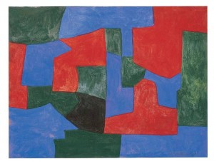 Serge Poliakoff. Composition verte, rouge et bleue. 1965.1969. Galerie Ludorf.