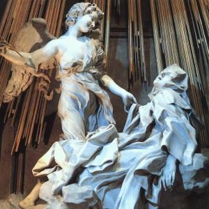Gian Lorenzo Bernini. L'extase de St Thérése. 1647. 1652. Chapelle Cornaro. St Maria delle Vittoria. Rome
