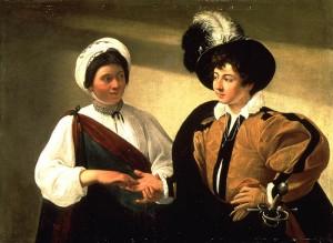 Caravage0 La diseuse de bonne aventure. 1595.1598. Louvre.