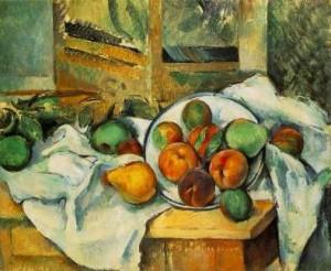 Cézanne. Coin de table. 1900. Collection Barnes. Etats-Unis.