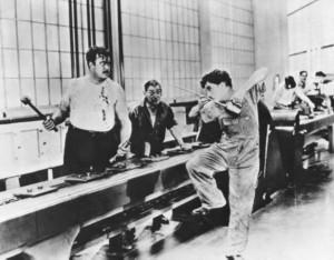 Charlie Chaplin. 1889.1977. Les temps modernes, 1936.