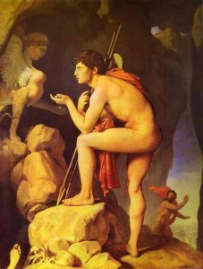 Jean-Dominique Ingres. Oedipe et le sphinx. 1808. Musée du Louvres