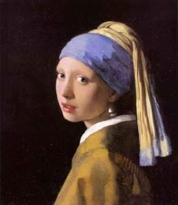 la jeune fille à la perle. Vermeer. 1565.1566. Mauristhuis. La Haye.