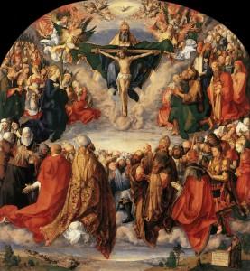 A. Dürer. L'adoration de la St Trinité. 1511. Musée de Vienne.