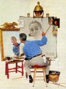 Norman Rockwell. Autoportrait.