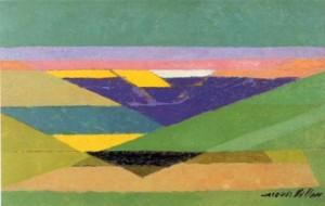 Jacques Villon. 1875.1963. Les grands fonds. 1945. Musée d'art du Luxembourg.
