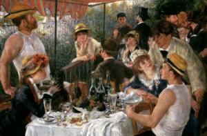 Le déjeuner des canotiers. Renoir.