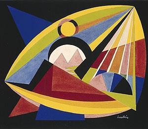 Auguste Herbin. 1882.1960. Composition gouache. Suisse.