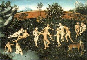 L'âge d'or. Cranach l'Ancien. Pinacothèque de Munich.