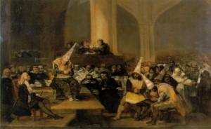 Goya. Scène d'Inquisition. Fondation de Zaragosse.