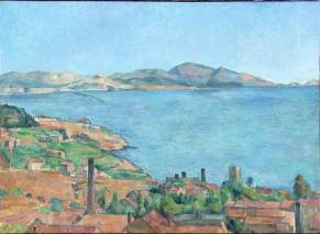 Paul Cézanne. 1830.1906. Le port de Marseille vu de l'Estaque. Métropolitan museum. New York.