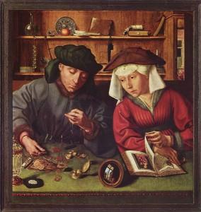 Quentin Metsys. Le prêteur et sa femme. 1514. Musée du Louvre.