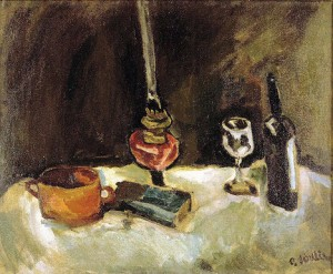 Chaim Soutine. 1893.1943. Nature morte à la lampe. 1914.1915.