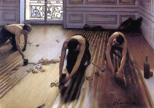 Gustave Caillebotte. Les raboteurs de parquets. 1875.