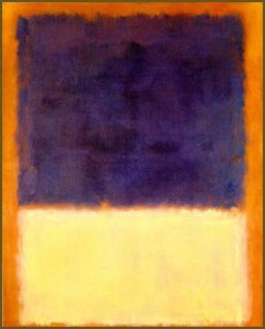 Marc Rothko. Red, Orange, tan and purple. 1954.