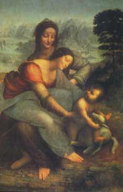 St Anne, la Vierge et l'enfant. Léonard de Vinci pages.glogetrotter.net
