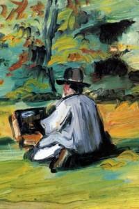 Un peintre au travail. Paul Cézanne. 1875. Collection particulière.