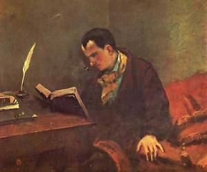 Portrait de Baudelaire par Courbet. 1848. Musée Fabre. Montpellier.