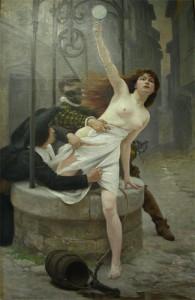 Edouard Debat Ponsan. La vérité sortant du puits. Musée d'art de la ville d'Amboise. Dépôt du musée d'Orsay.